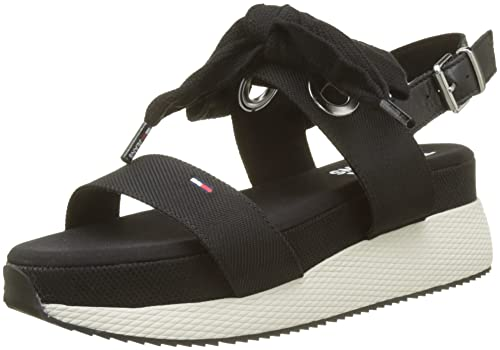 2f4115c9b5c Tommy Jeans Women s Modern Hybrid Sandal Bow Sling Back  Amazon.co ...