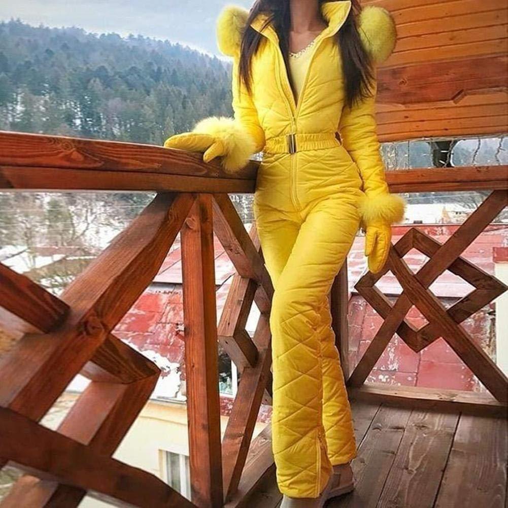 Chowaway Tuta da Sci da Donna Tuta da Neve Calda Tuta Antivento per Gli Sport Invernali