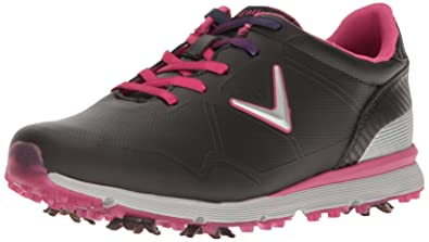 Callaway Women's Halo Golf Shoe, Black/Pink, 11 B US
