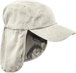 6b6e78666c3 Pro Force Mens Legionnaires HAT 100% Cotton Sand Natural Sun Safe Bush Cap  Gents Wide