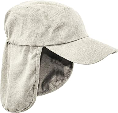 86b1ab079a576 Pro Force Mens Legionnaires HAT 100% Cotton Sand Natural Sun Safe Bush Cap  Gents Wide and Long Neck Cover Hiking  Amazon.co.uk  Clothing