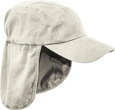5b933c96 Pro Force Mens Legionnaires HAT 100% Cotton Sand Natural Sun Safe Bush Cap  Gents Wide and Long Neck Cover Hiking: Amazon.co.uk: Clothing