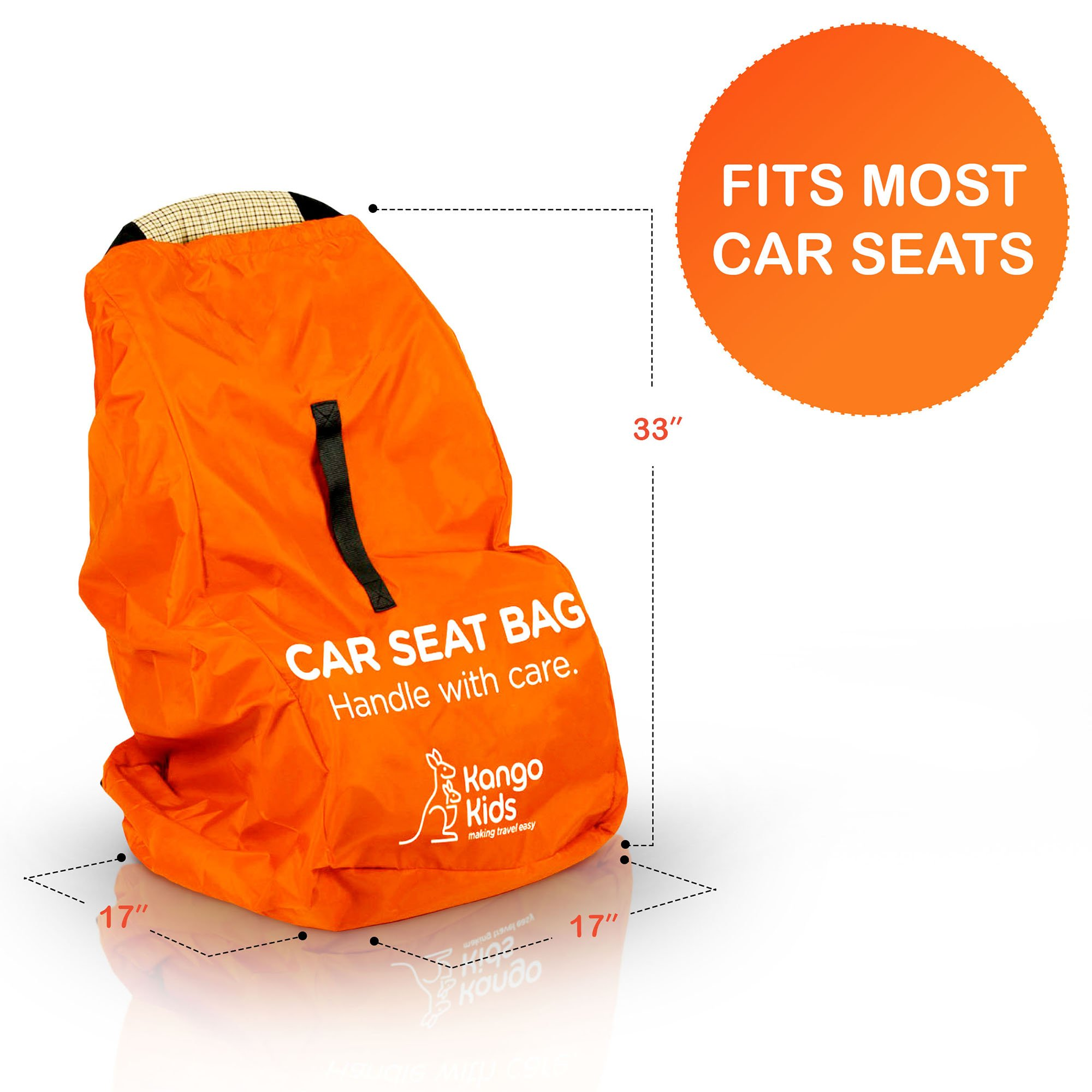 Car Seat Travel Bag -Make Travel Easier & Save Money. NEW IMPROVED Carseat Carrier for Airport - Protect your Child's CarSeats & Stroller from Germs & Damage. Easy Carry Padded Backpack by KangoKids (Image #2)