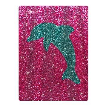 Toalla de playa de microfibra de delfín rosa, apta para piscina, playa, camping, mantas de playa: Amazon.es: Hogar