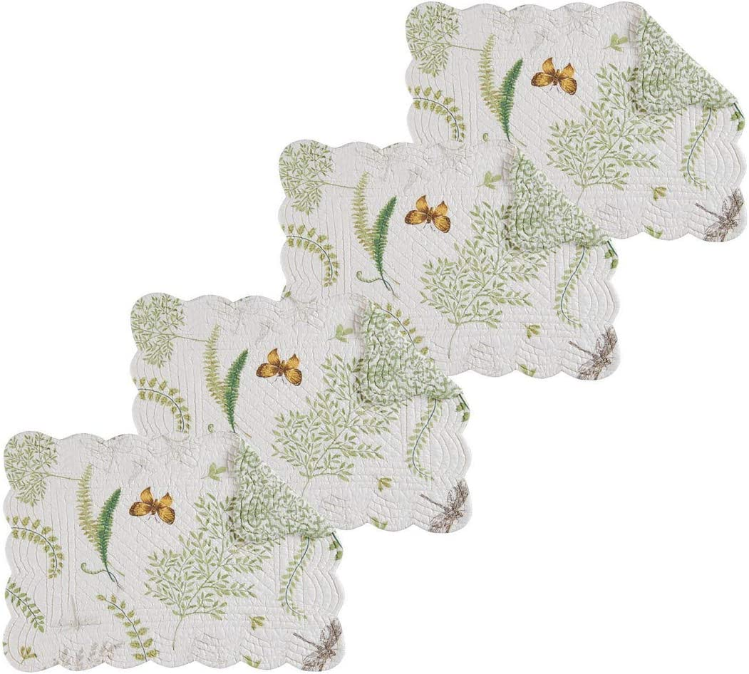 C&F Home Althea Rectangular Cotton Rectangular Cotton Quilted Placemat Set of 4 Rectangular Placemat Set of 4