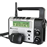 Midland - XT511, 22 Channel Emergency Crank Base Camp Radio - 5 Watt GMRS Two-Way Radio with 5 Power Options, 121 Privacy Cod