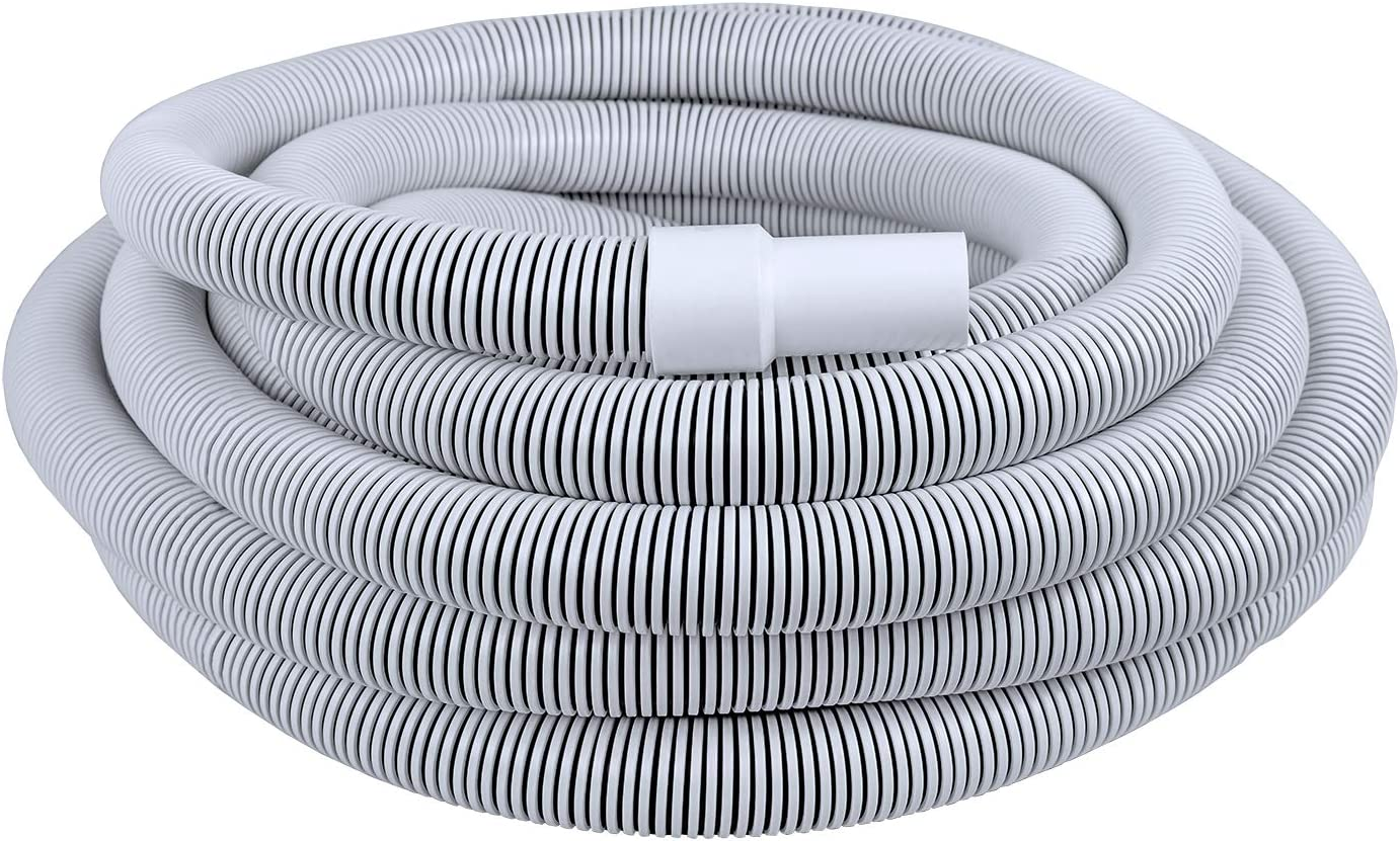 Poolmaster Commercial In-Ground Swimming Pool Vacuum Hose With Swivel Cuff, 1 1/2-Inch x 50-Foot