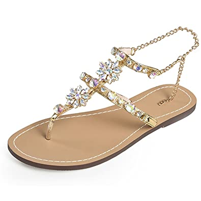 c28594b106dbc9 swimstore New Gladiator Flat Women Sandals Sexy Rome Flip Flops Chain  Crystal Slippers Summer Shoes Plus