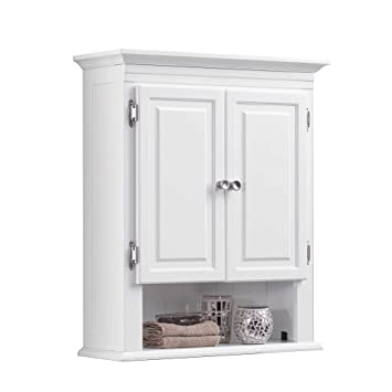 Wakefield 3 Shelf With 2 Doors Bathroom Wall Mount Cabinet In White