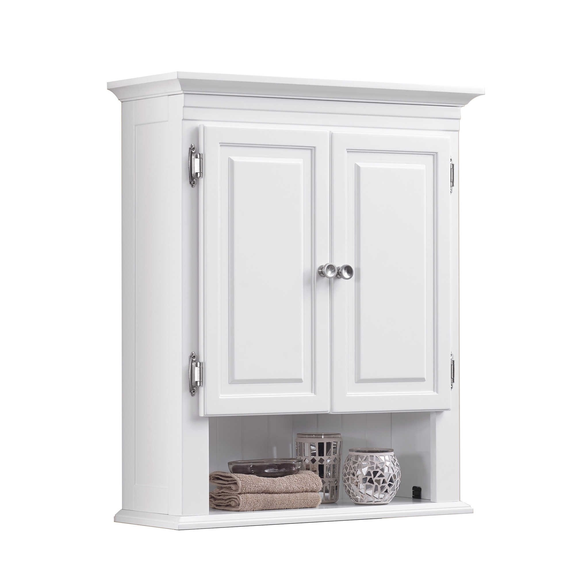 Wakefield 3-Shelf with 2-Doors Bathroom Wall Mount Cabinet in White