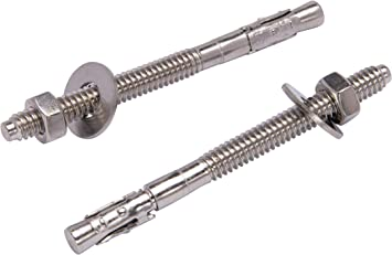 """316 Stainless Steel 100 1//4/""""-20 X 1 3//4/"""" Wedge Anchors"""