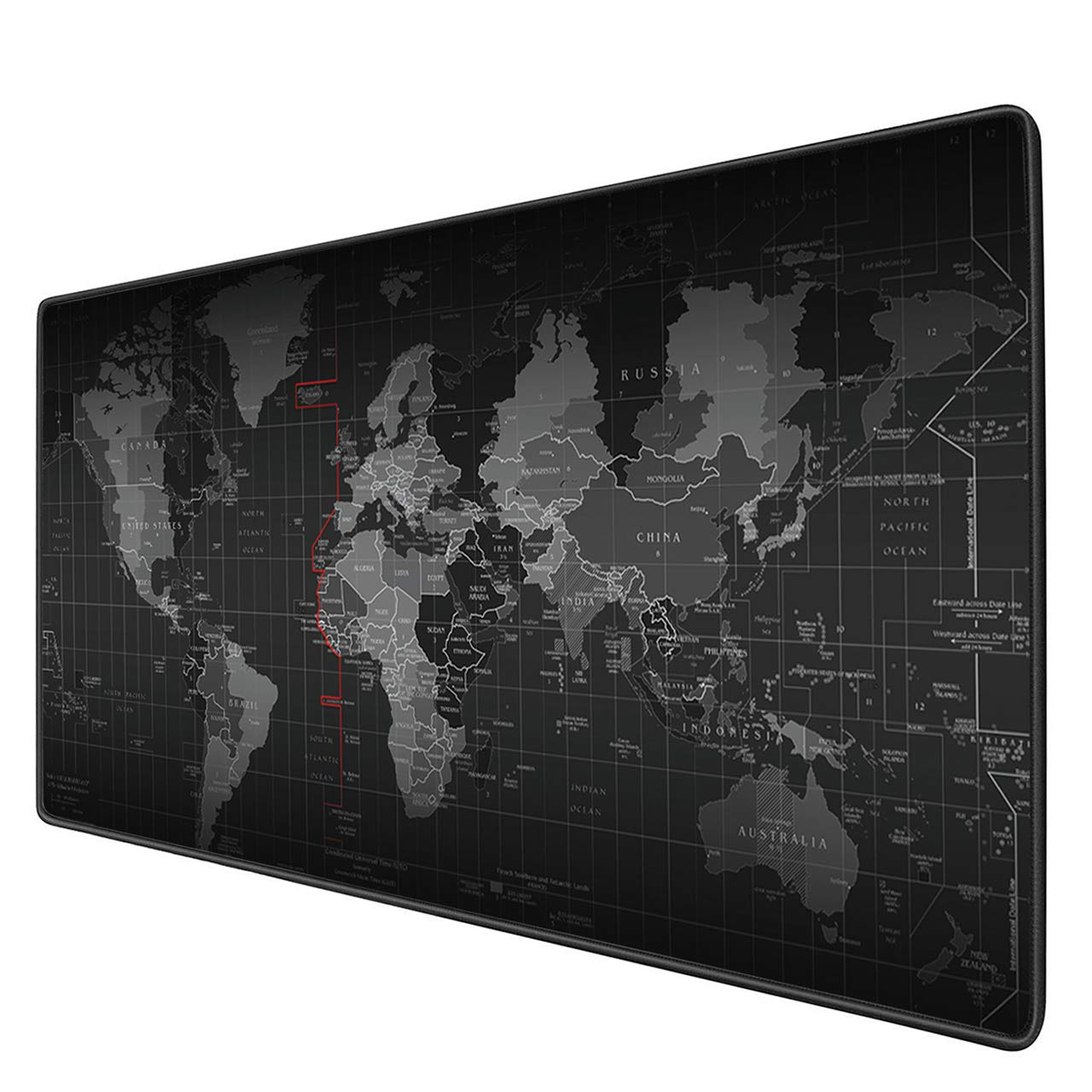 Benvo Extended Mouse Pad XXL Gaming Mouse Mat- 35.4''x15.7''x0.12'' Large Desk Pad Non-Slip Rubber Base for Any Surface, World Map Pattern