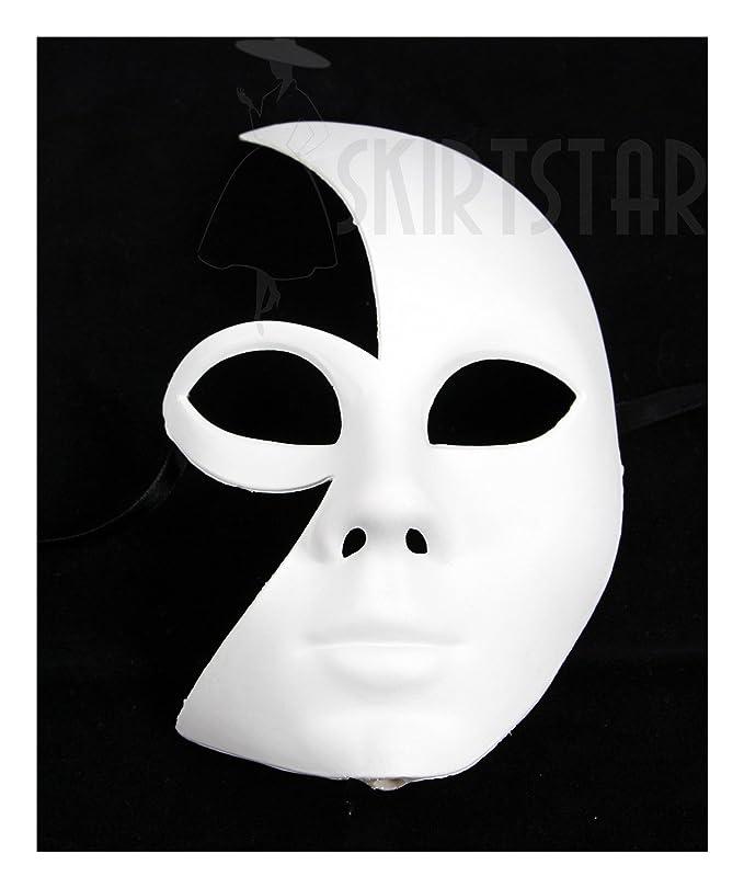 Amazon.com  Largemouth Women s White Full Face Masquerade Mask (White)   Clothing 7203033b9e3b