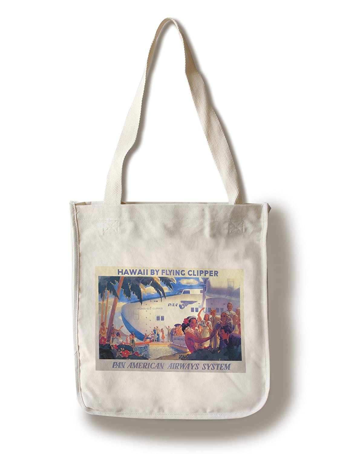 Hawaii by Clipper – Pan American旅行ポスター Canvas Tote Bag LANT-19635-TT B018411XCA  Canvas Tote Bag