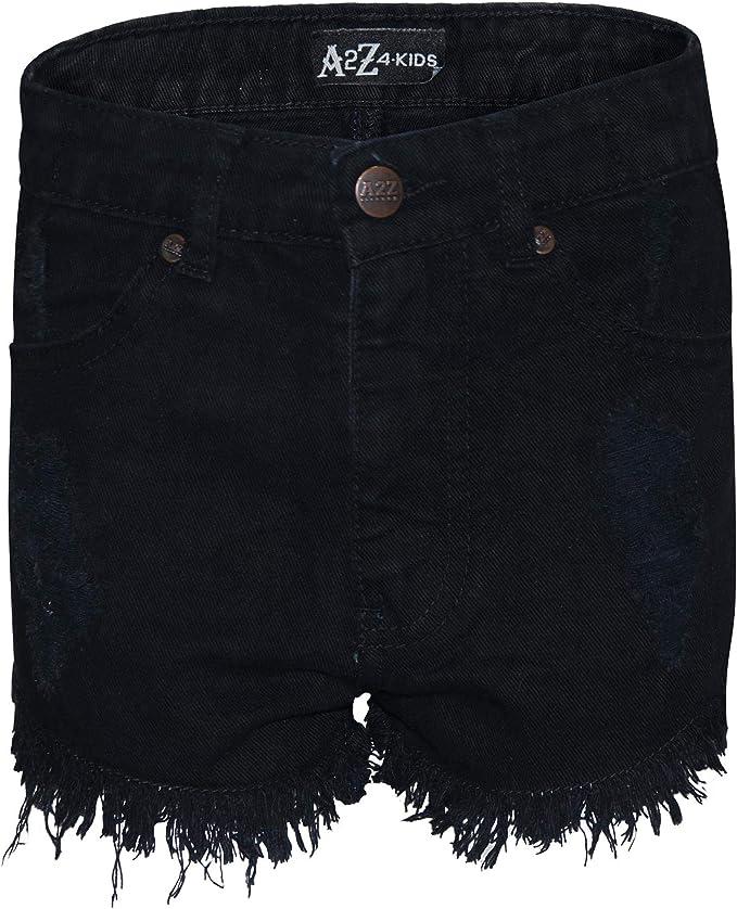 A2Z 4 Kdis Kids Girls Shorts Bermuda Light Blue Skinny Jeans Hot Pants Summer Denim Chino Short Casual Half Pant New Age 5 6 7 8 9 10 11 12 13 Years