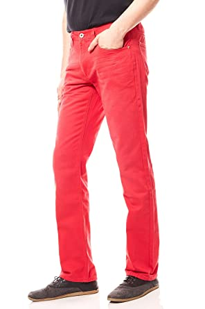 363caaa110e95b John Devin Hose Herren Jeans Denim Rot Länge 30: Amazon.de: Bekleidung