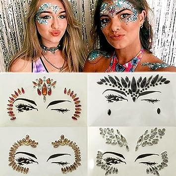 IGEMY Gemas Adhesivas Glitter Joya Tatuaje Pegatina Boda Festival ...
