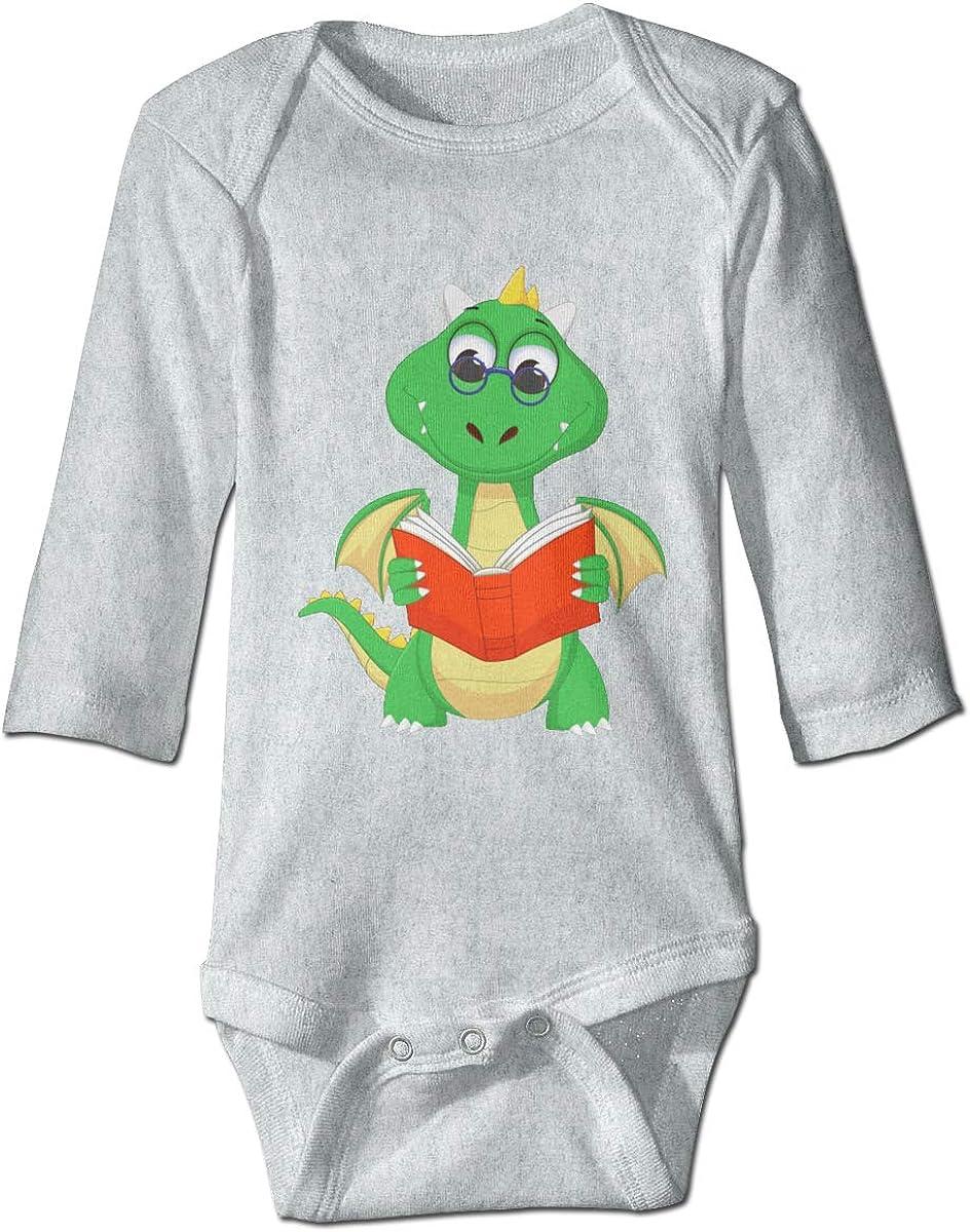 Marsherun Newborn Baby Girl Boy Cute Dragon6 Long-Sleeve Bodysuits Playsuits