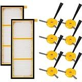 cabiclean Replenishment Kit Compatible Shark ION Robot RV750, RV720, RV700, RV750C, RV755. 10 Pack (2 Filter + 8 Side Brush)