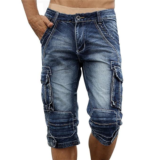 Profitd Hombre Pantalones cortos jeans Pantalones cortos de ...