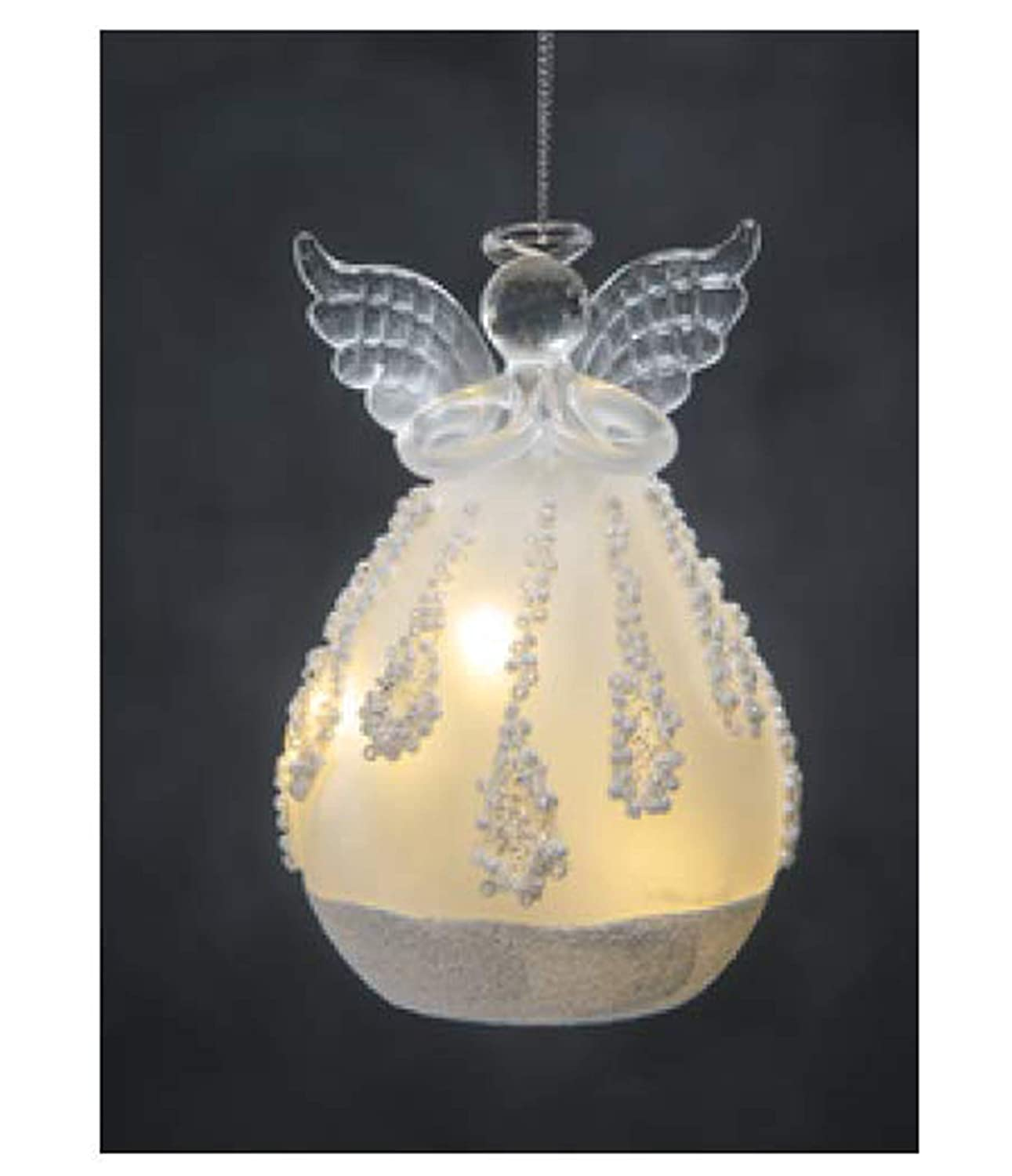 Ganz Battery Operated Angel LED Holiday Frosted Ornaments ~ Choose from Four Designs Angel B