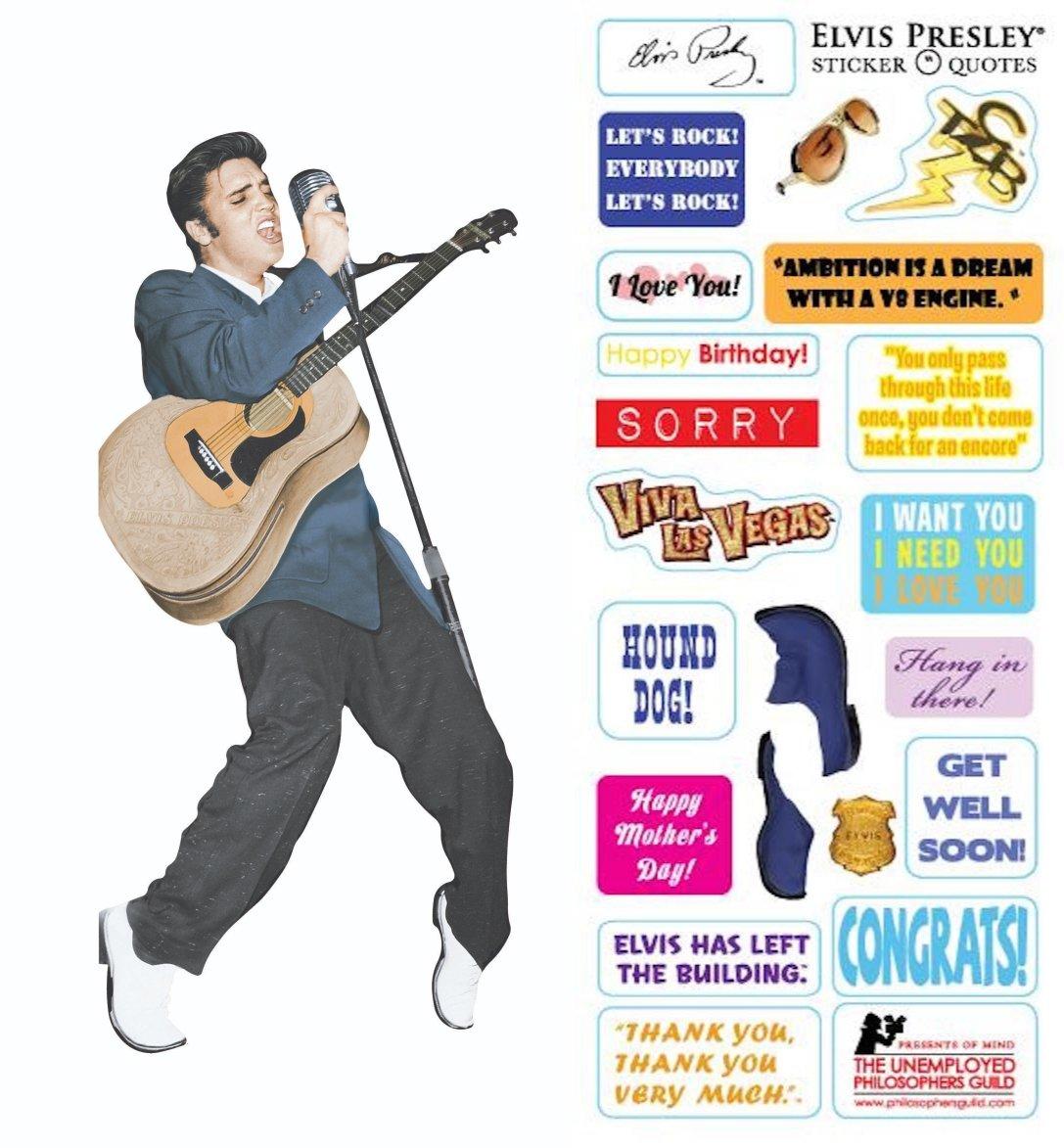 Amazon Com Elvis Presley Quotable Notable Die Cut Silhouette