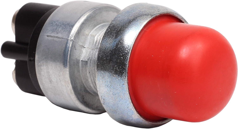 Fastronix Heavy Duty Push Button Momentary Start Switch Dark Red Neoprene Cap Fastronix Solutions