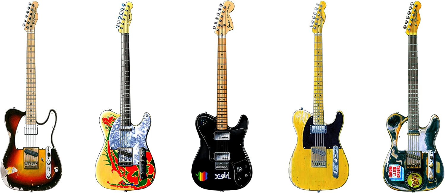 George Morgan Illustration Famoso Fender Telecaster Guitarra #1 ...