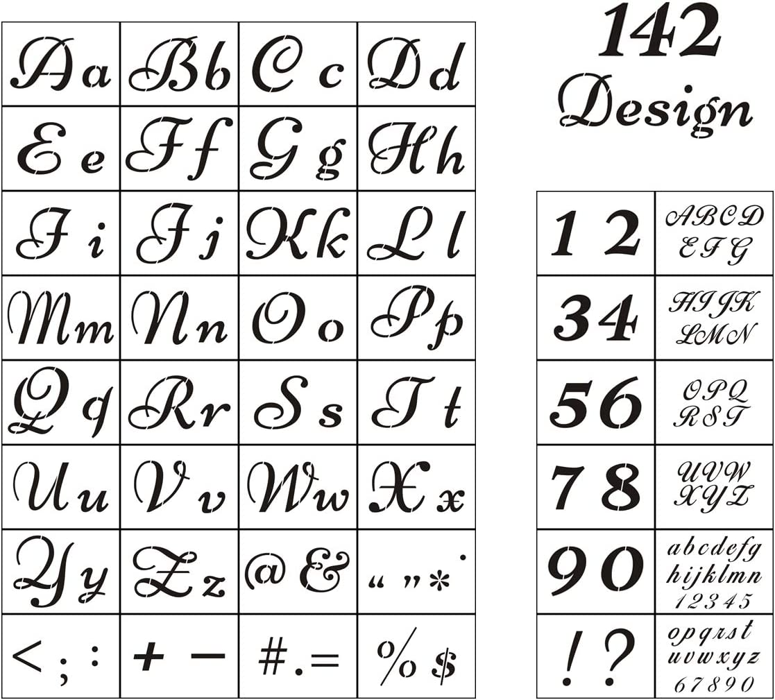 Amazon Com Letter Stencils For Painting On Wood 44 Pack Alphabet Stencil Templates With Numbers And Signs Reusable Plastic Stencils In 2 Fonts And 142 Designs For Wood Burning Wall Art,Salwar Kameez Pakistani Designer Suits