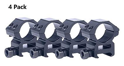 Amazon.com: Tenako - Juego de 4 anillos de perfil, 1 pulgada ...
