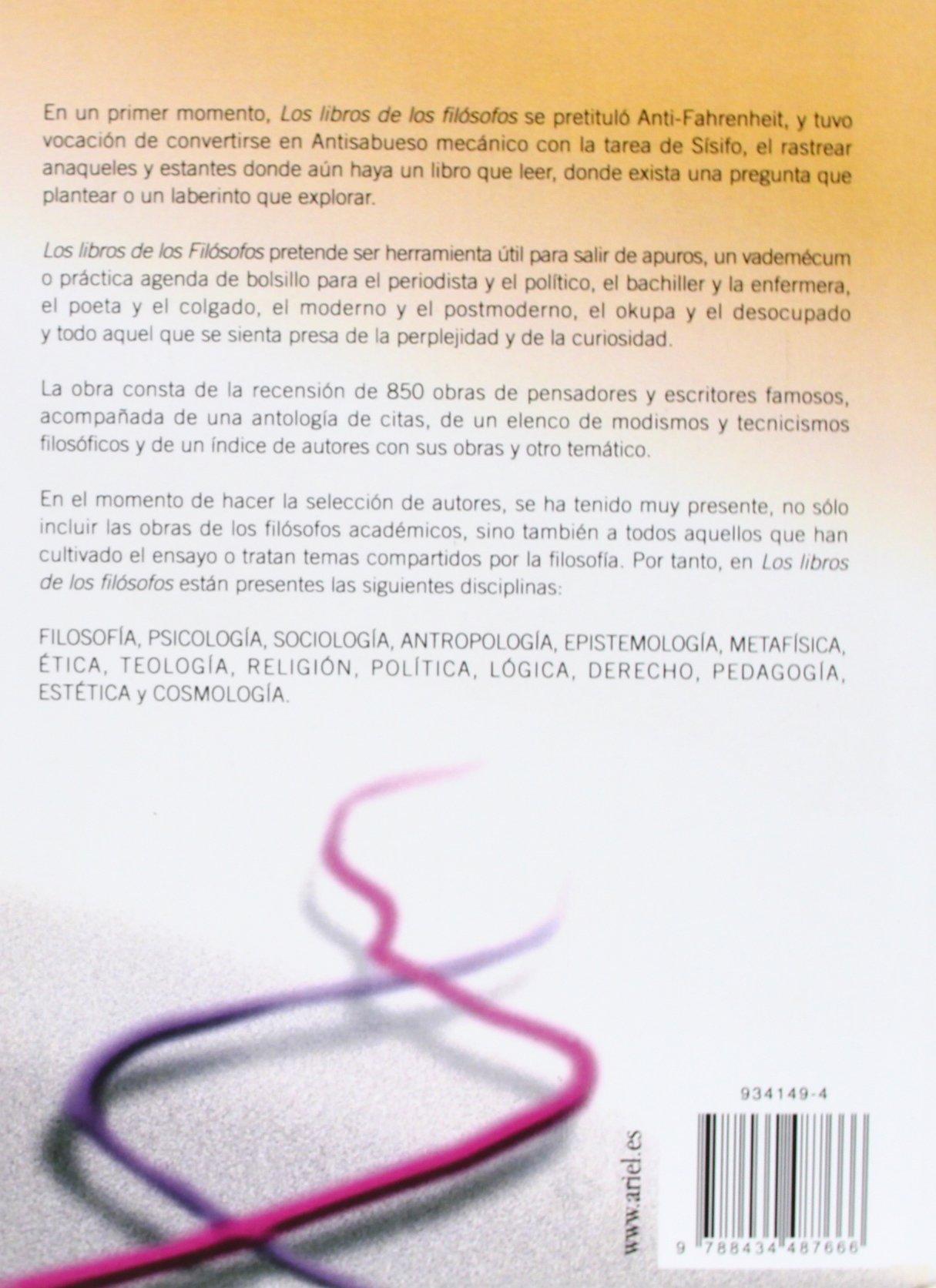 Los Libros de Los Filssofos (Spanish Edition): Various ...