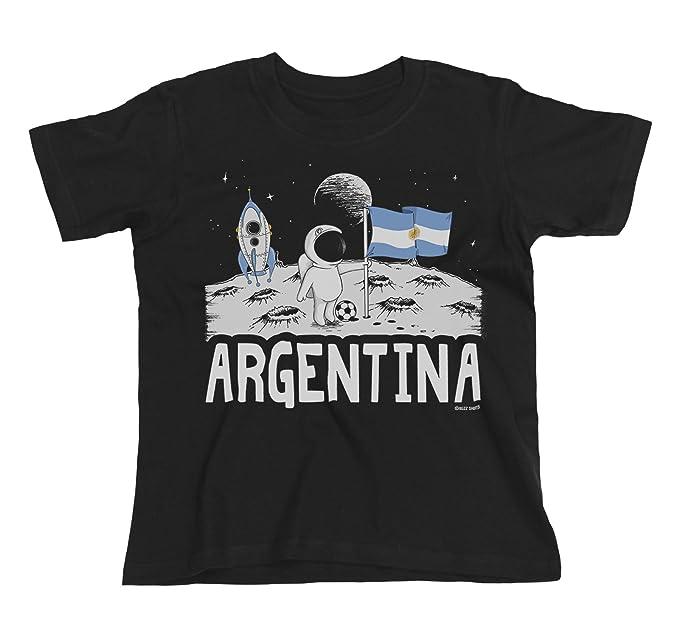 Buzz Shirts Kids Argentina Camiseta Moon Flag Copa Mundial 2018 Fútbol Funny Copa America: Amazon.es: Ropa y accesorios