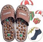 CLORIS Reflexology Foot Massagers Acupressure Massage Slippers for Men Wome, Relief