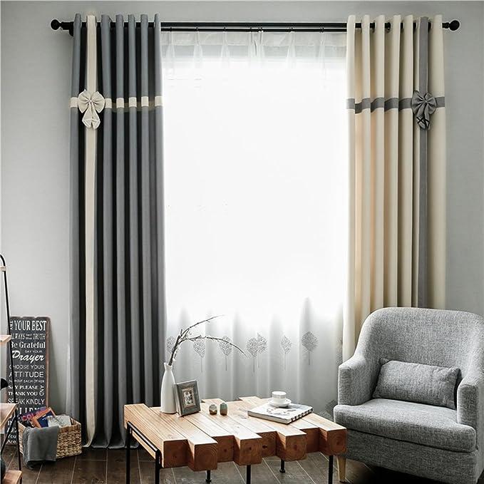 clichtg algodón y lino + Blanca hilo 209 cortinas costuras ...