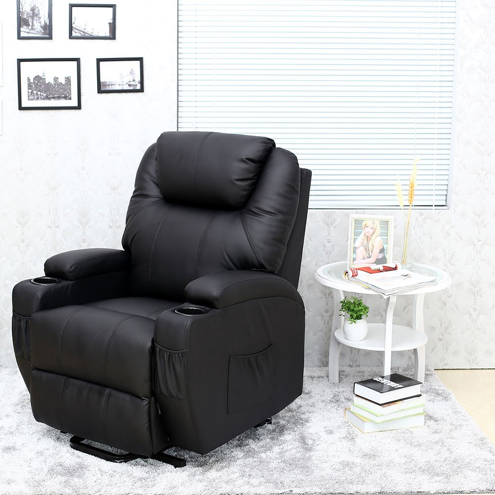 Cinemo Elecrtic Rise Recliner Leather Massage Heat Armchair Sofa Lounge Chair (Black) Amazon.co.uk Kitchen u0026 Home & Cinemo Elecrtic Rise Recliner Leather Massage Heat Armchair Sofa ... islam-shia.org