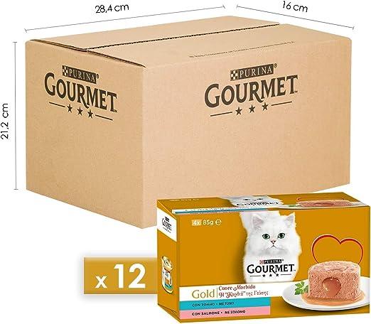 Purina Gourmet Gold Húmedo Gato, 48 latas de 85 g Cada una, 12 ...