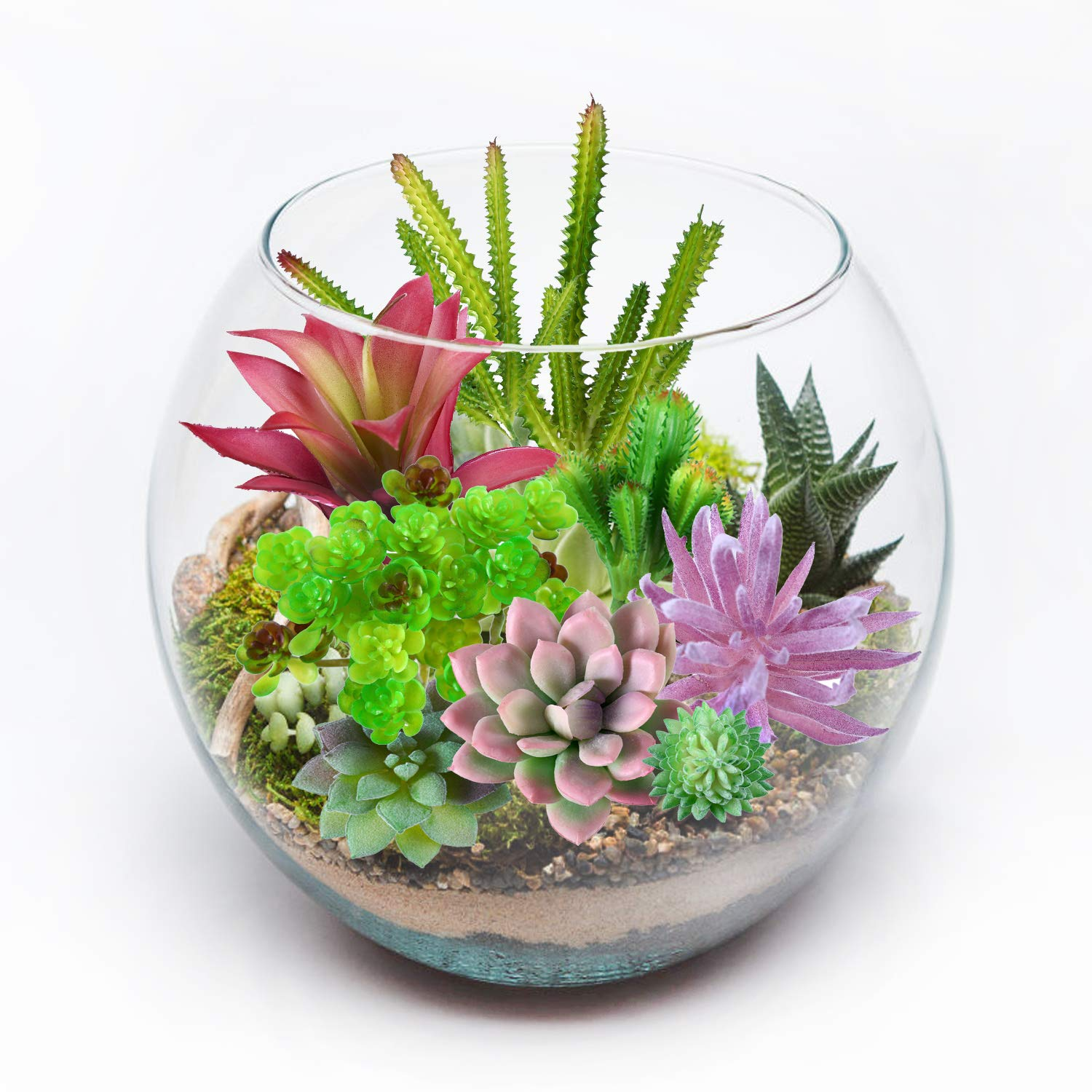 Beaspire Artificial Fake Succulent Plants 15 PCS Fake Plants Unpotted Faux Succulent Assorted for Indoor or Outdoor Decor, Office and Garden Arrangements Decoration