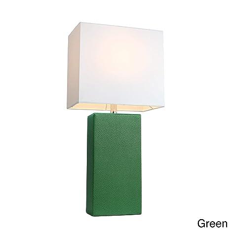 porch den delano mt carmel leather 1 light table lamp green