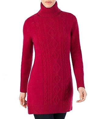 b6249cdfb126 Wool Overs Robe-pull torsadée à col roulé en laine d agneau Lie de ...