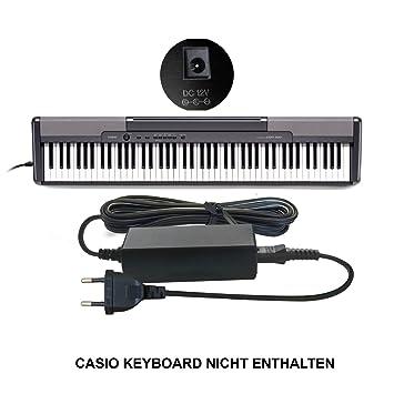ABC Products® para Casio Fuente de alimentación, adaptador de red, conector DC 12 V/12 ...