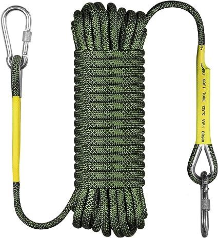 10m Static Rock Climbing Rope 12mm Tree Wall Climbing Equipment Gear Outdoor