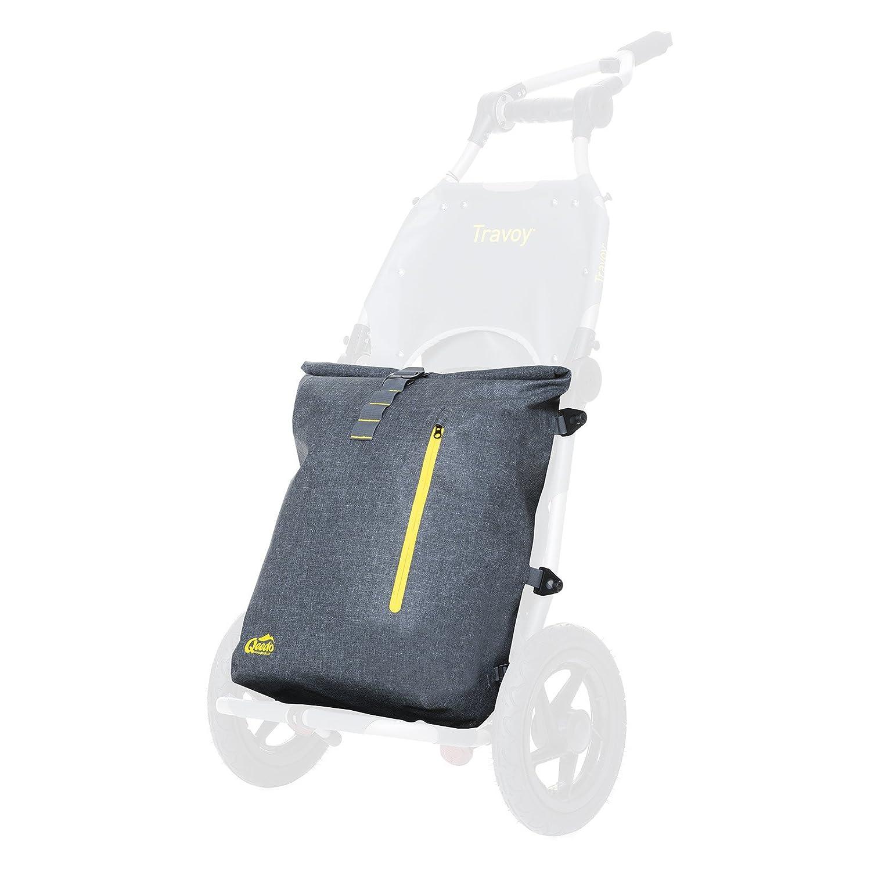 Packsack Qeedo Dry Carrier Lower, Zubehör für Burley Travoy, Wasserdicht, Grau, Rucksack, Backpack, Robust, Leicht