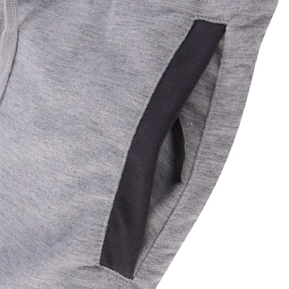 Mirrliy Mens Outdoor Relaxed-Fit Runnung Cotton Activewear Jogging Harem Pants