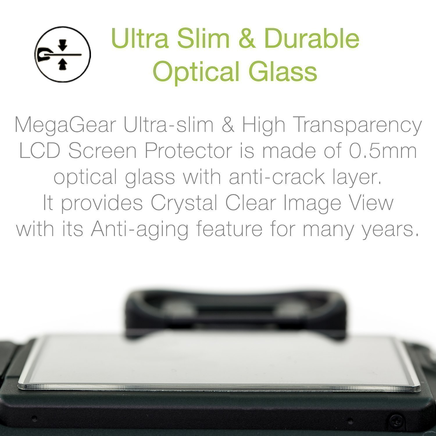 MegaGear Camera LCD Optical Screen Protector Compatible with Fujifilm