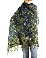 "Falari Women's Woven Pashmina Shawl Wrap Scarf 80"" x 27"""