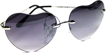 5d0c0557f1 NM24-S1 Rimless Heart Women s Sunglasses UV400 Gtradient Metal