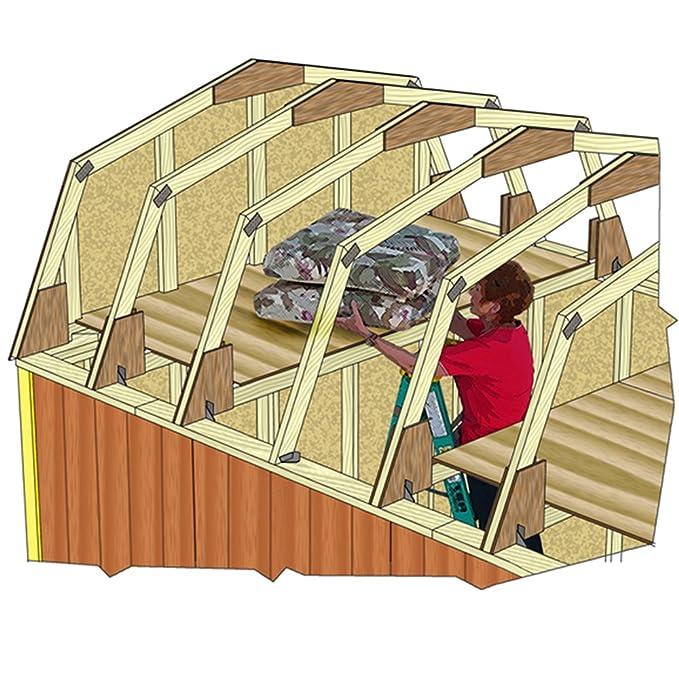 BONUS ET SALVUS TIBI (BEST) Mejor graneros Woodville 10 x 12 caseta de madera Kit: Amazon.es: Jardín