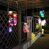 ENKO, Mason Jar, luci solari, 10 LED Branello Chiaro, luci della stringa, appendere le luci per il giardino, patio, Party all'aperto