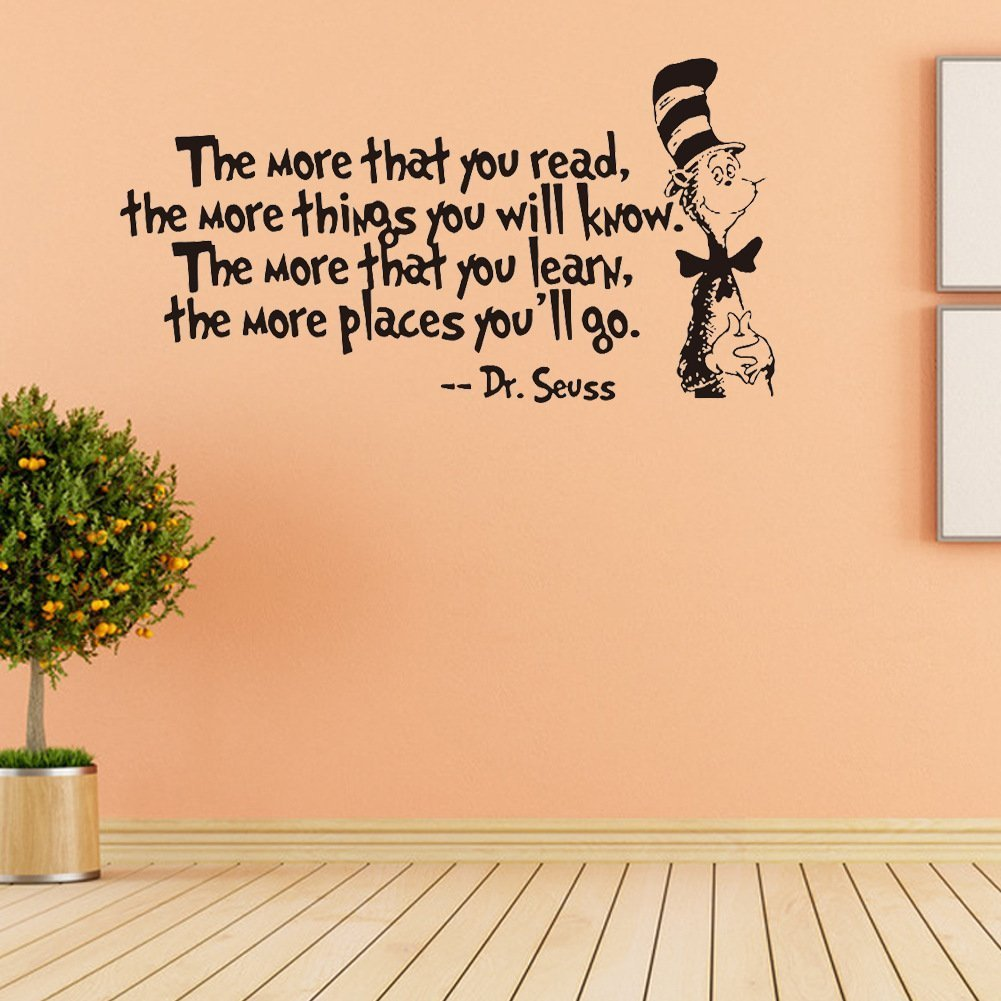 Amazon.com : Removable Quotes and Saying Dr. Seuss the More You Read ...