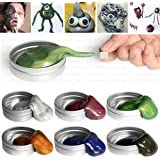 Magnetic Slime Magnetic Putty, Pack of 6 Colors Intelligent Clay with Funny Monster Eyes, for Kids Children Great Creative Toy Gift Present, by Evantek